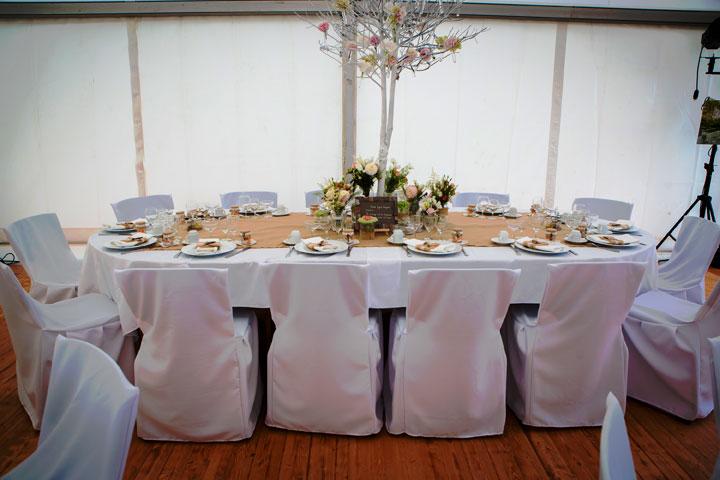 Deco Salon Blanc Bleu : Housse De Chaise Standard ~ Housses de chaise mariage sublime