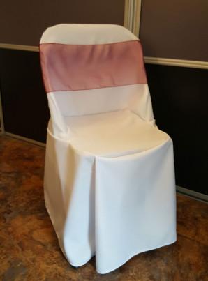 Housse pour Chaise Pliante avec Dossier Droit mariage
